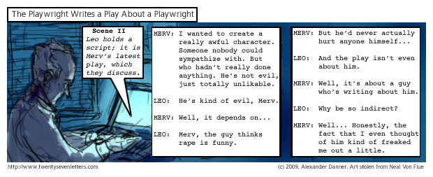 The Playwright Writes a Play About a Playwright
