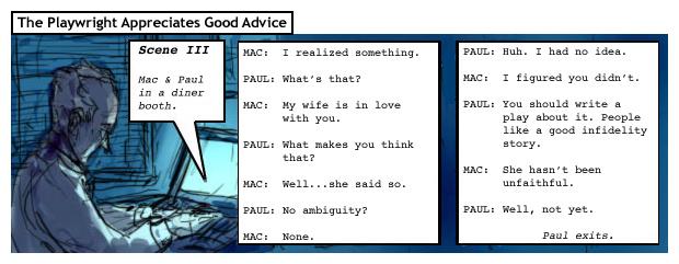 The Playwright Appreciates Good Advice